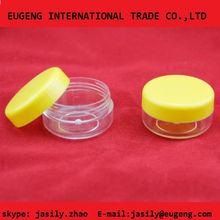 Plastic cosmetic loose powder container /ingenious distinctive compact powder jar