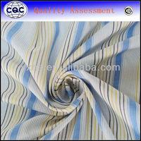 Stripe design 65/35 stretch shirt fabric polyester cotton