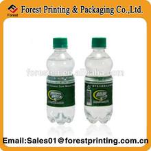 Customized Plastic Water Bottle Label