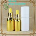 Botella de vidrio cuentagotas de oro 30 ml 50ml electrochapa oro para líquidos e, aceite esencial