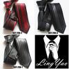 Top Luxury men skinny tie Unique Panel Lurex necktie striped ties