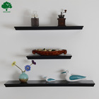 wall mounted MDF wooden decorative floating wall shelf