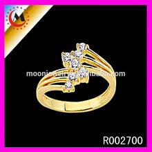2014 anel de moda baratos por atacado cristal anel de casamento mulheres