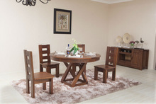 2014 Round wooden dining table set was made from American ash wood for dining room furniture sets