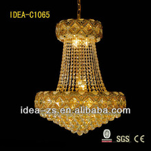 decorative large crystal silver star lighting