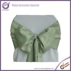 8222 sage satin wedding chair cover and chair sashes for sale