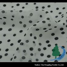 100% Polyester small dot chiffon fabric for women's dress