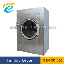 100kg capacity professional industrial commercial electric, steam or gas supply/heated tumble clothes dryer