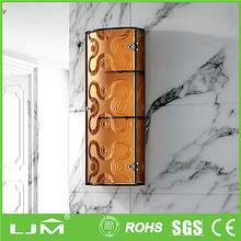 Best quality with reasonable price stainelss steel mirror door wardrobe cabinet