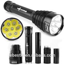 High power trustfire tr-j18 rechargeable handheld spotlights Cree XML 8000 lumen led flashlight tactical powerful led flashlight