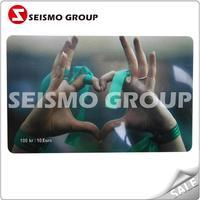 gold plated customized plastic membership card silver brush vip card