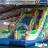 Commercial adult inflatable slide,jungle giant inflatable slide,large inflatable dry slide