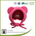 BSCI Audit children cap cute bright pink fleece hat
