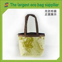 Long Handle Non Woven Bag Yellow Non Woven Tote Bag