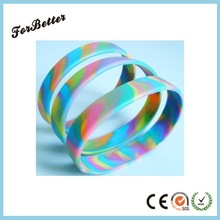 Customized Swirl Color and Debossed Silicone Bracelets