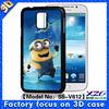 Popular design 3D case for Samsung galaxy S5 case can custom case