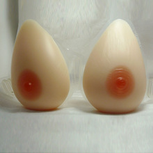 Tear drop shape Attachable breast forms 100% silicone strap design and soft
