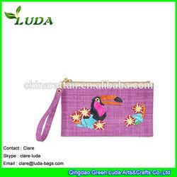 LUDA Colored raffia straw Crochet Cluth Bag Cosmetic bag Straw clutch bag