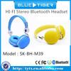 HI-FI Stereo Bluetooth Headset ,Color Optional Fashion Bluetooth Headset