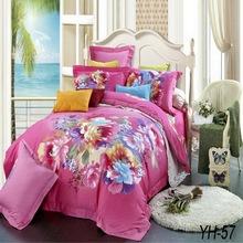 Big flowers pattern 4 pcs 100% cotton turkey comforter sets