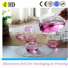 fashion design handblown borosilicate blooming glass tea pot in stock