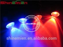 Car/Motorcycle White Flash Emergency Warning LED Light 4 LED