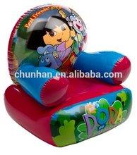 blue inflatable chair sofa