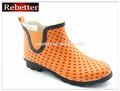 2014 barato novo senhoras polka dot design jardim botas de borracha chuva