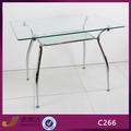 vidrio c266 superior de cromo marco mesa de comedor muebles para el hogar