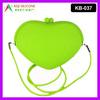 Big Silicone Pochi Bag with Shoulder Strap,Rubber Heart Pochi Bag