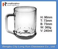 LongRun 240ml unique style charming Eco-friendly dinner set glassware drinking glass set with high quality