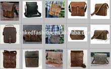 Men Genuine Leather Cowhide Vintage Brown Satchel Shoulder Messenger Bag by Yiwu Linked Fashion Accessories Yiwu Market Agent