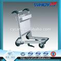 3 ruedas de aleación de aluminio de metal aeropuerto el equipaje de la carretilla de los carros