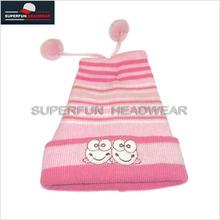 Pink pretty baby hat crochet pattern