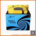 high-end paper corrugated wine box handle wine box