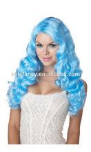 Sweet Tart Cosplay Blue Mermaid Sexy Costume Wig ponytail QPWG-2028