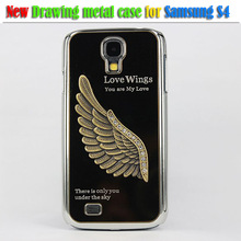3d cell phone bling case for samsung galaxy s4 Eagle Love Wings Case