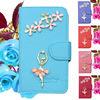 Factory Price !!! Elegant Rhinestone Flip Leather Case for LG G3/ D850