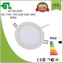 Aluminum PC ultra slim led downlight 9W dimmable