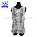 ( usine yjc11543) dame de la mode gilet gilet de dentelle au crochet de coton