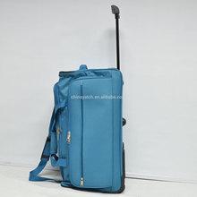 foldable trolley case 900D polyester high quality eva luggage trolley bag