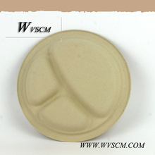Eco friendly disposable partition dinner plate