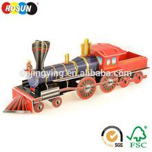 Educational 3D puzzle train DIY