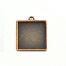Wholesale zinc pendant trays blank,Antique Copper Bezel Cabochon Setting-A19951