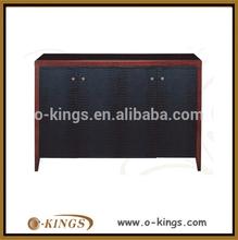 Custom wood modern sideboard buffet
