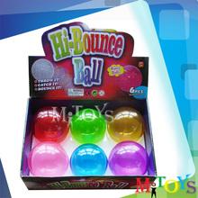 2014 Hot Sale Jumping Glitter Bouncing Ball Hollow Plastic Balls