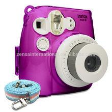 Fujifilm Instax Mini 8 Photo Protection Crystal Camera Case / Strap - Purple