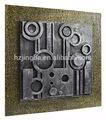 Metall-effekt abstrakte kunst malerei für home wanddekoration