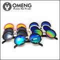 metallici rotondi occhiali da sole per uomo