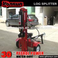 High qualiyy electric start Honda Kohler gasoline motor Honsun hydraulic 30 tonne saw with log splitter